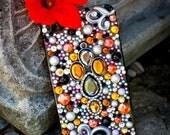 Sparkly Orange Custom iPhone 4/4S Case- Majestic Mandarin