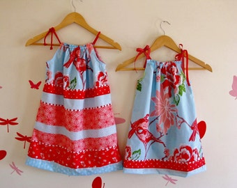 Girls Gathered Top Dress PDF Sewing Pattern Beginners-Childrens Clothing (Use Sewing Machine Only)