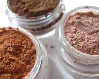 3pc FAVES Eyeshadow Collection - FULL 5g Pure Natural Vegan Eye Color Pigment