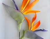 Edible Cake Topper Birds of Paradise Large and Small 2 qty for wedding cake, birthday cake, modern wedding, luau, beach wedding