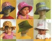 Butterick B 5056 Sewing Pattern Toddler Hats Children's Sun hats
