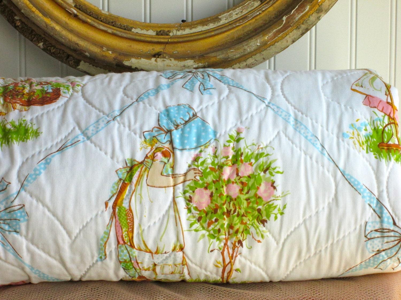 Vintage Holly Hobbie Comforter Full Quilt Style Kids Decor