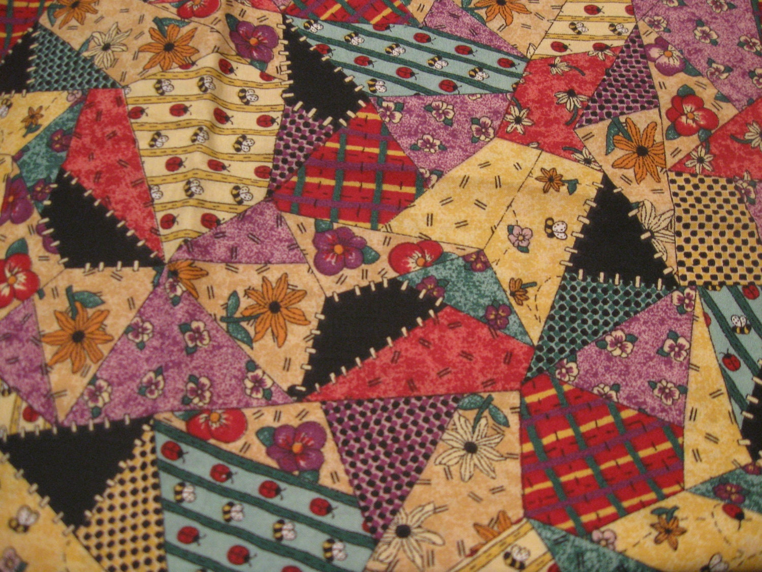 Sale patchwork fabric by lisa sealy for springs ltd by the for Sewing material for sale