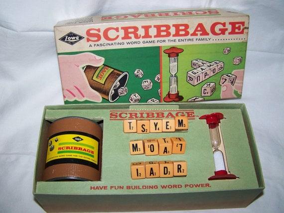 Scribbage Game 1963 Vintage Board Game