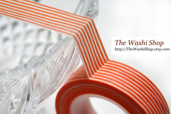 Orange Stripe Washi Tape(16.5 yards)