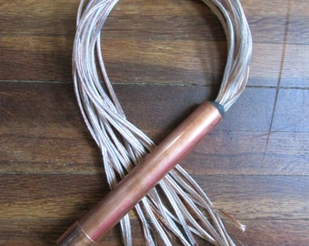 Exposed Metal Speaker Wire BDSM Flogger Mature