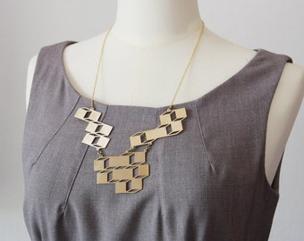 Geometric - Box Optical Art Necklace