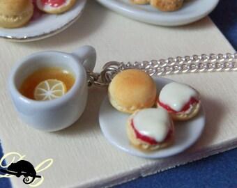 Lemon Tea & Scones Necklace