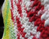 Multi colored unisex crocheted washcloth
