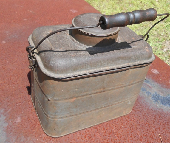 Antique Miners Metal Lunch Pail
