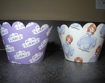 Sofia The First Cupcake Wrappers   Disney Sofia The First