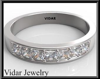 Wedding Band,Wedding Ring,Womens Diamond  Wedding band.half eternity band,gold,bridal,Unique Wedding Band,designed,Gold engagement,Ring,