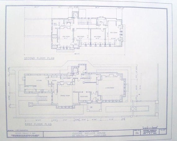 Frank Lloyd Wright Heller House Floor Plan By Blueprintplace