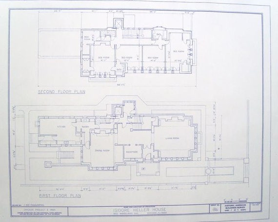 Frank lloyd wright heller house floor plan by blueprintplace Frank lloyd wright house floor plans