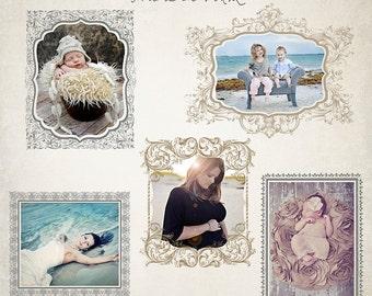 Digital Frames Set - Frame It Vol2 - Templates for Photographers - ID010, Instant Download