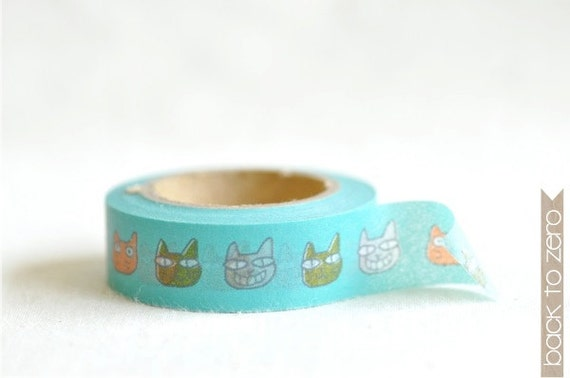 Washi Tape - Cat Faces