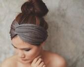 Desert Star, Extra wide Turban Twist Headband - Glister Metallic Brown, TW-B-12001-MM