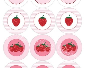 How Sweet Strawberry Printable Cupcake Toppers