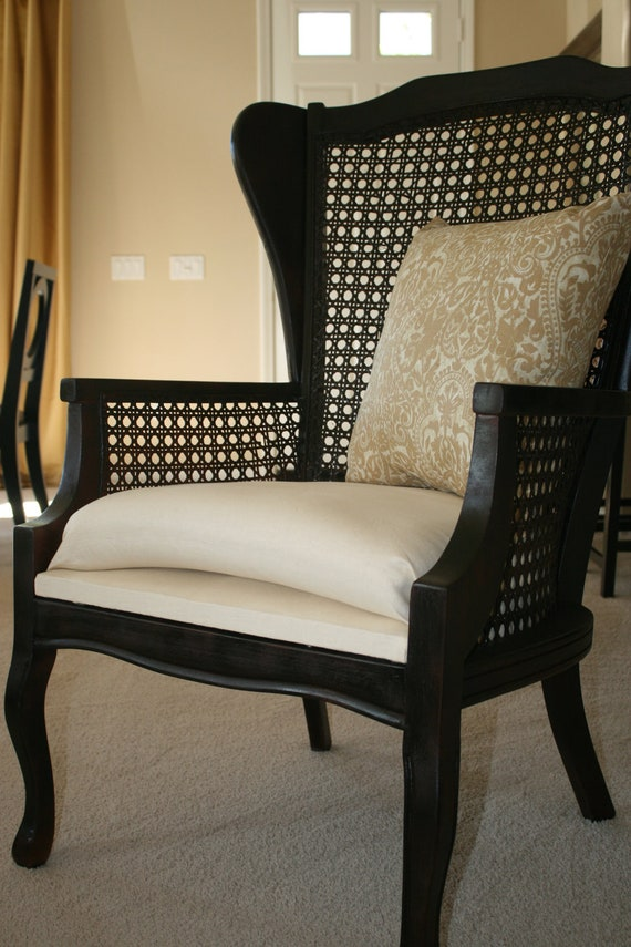 Couture Cane Wing Back Chair (NO LONGER AVAILABLE)