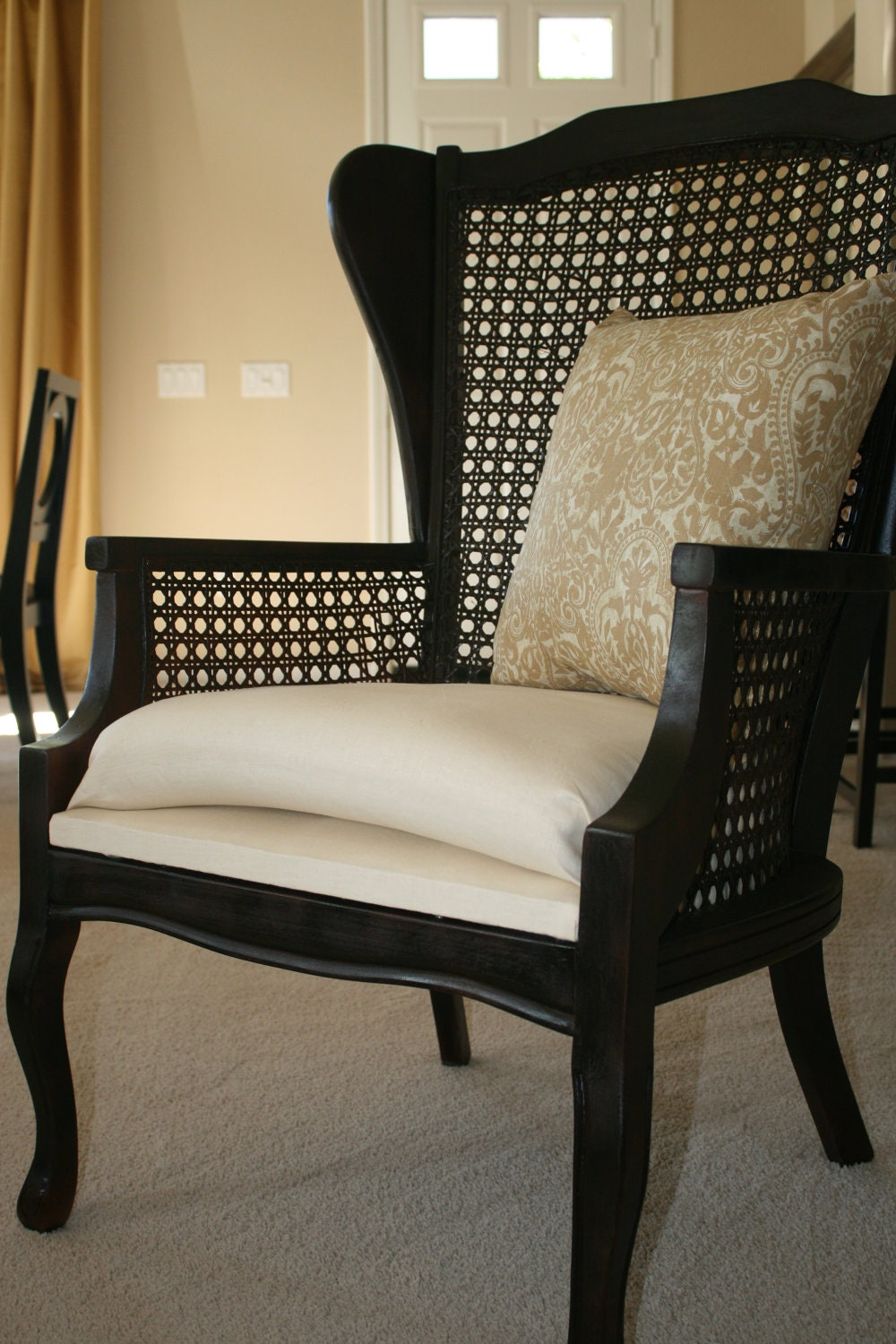 Items Similar To Couture Cane Wing Back Chair No Longer