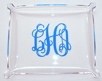 Monogrammed Acrylic Tray - Vanity Tray