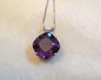 Antique Cushion Cut Amethyst Pendant