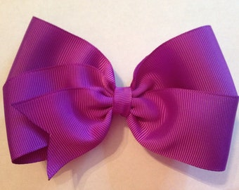 5 Inch Purple Hair Bow