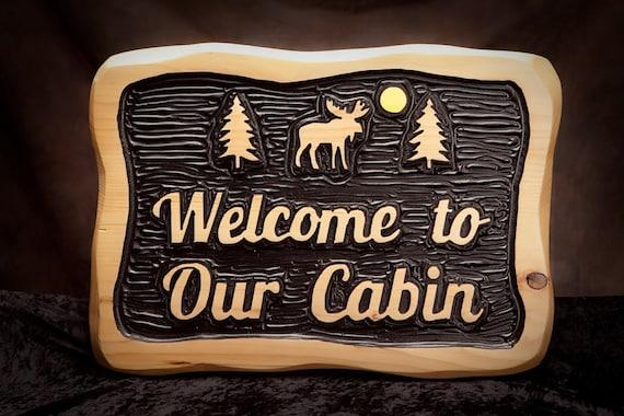 Custom Carved Rustic Sign Cabin Sign Adirondack Carved Sign