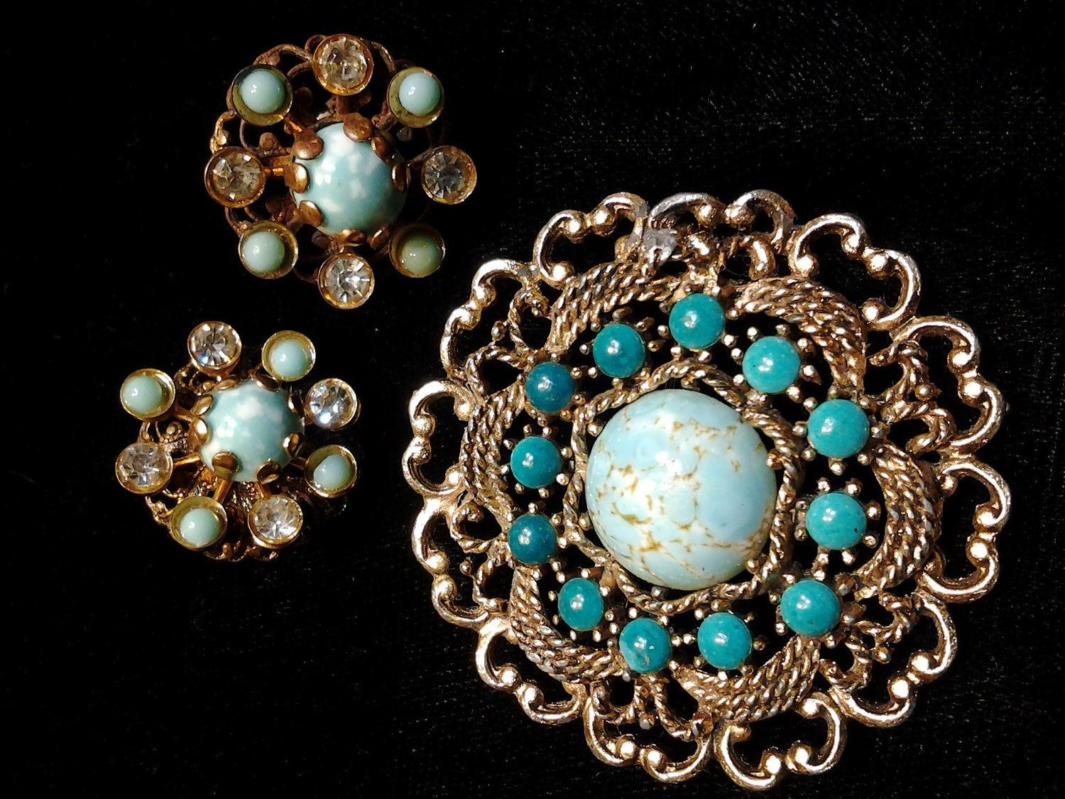 vintage antique costume jewelry brooch pin by