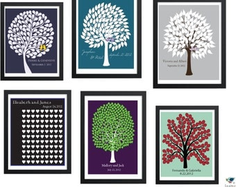 DIY PDF: Pick any Wedding Tree Guest Book from the shop (Leaves and Honey) as a PDF // Custom Personalized Printable Poster