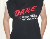 Vintage Dare Shirt Tank Top/Muscle Tee One Size Fits All