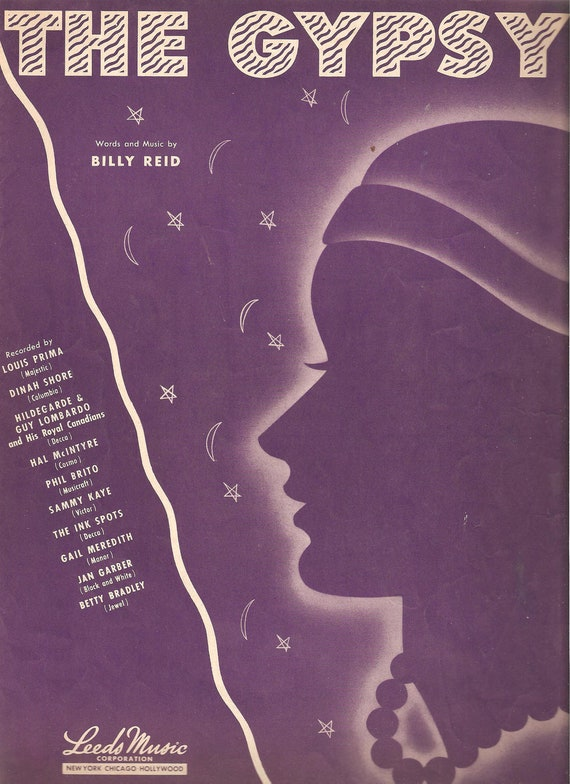 The Gypsy / Original Sheet Music