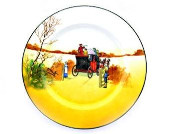 "Antique Royal Doulton Coaching Days 8"" Plate"