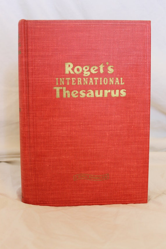 Roget's International Thesaurus 1949 Printing Bold Red and Gold Decorative Reference Book