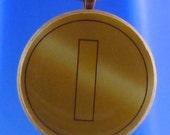 """Mario Coin Necklace - 1.5"""" Circular Pendant"""