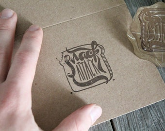 "Custom Logo Stamp ( 2"" x 2"" )  - Custom Stamp - Customized Stamp - Personalized Rubber Stamp - Stamp Custom - Clear Rubber Stamp"