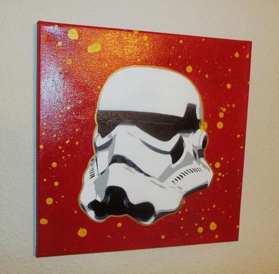 star wars storm trooper spray paint art on canvas by jmartwork. Black Bedroom Furniture Sets. Home Design Ideas