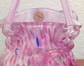 Glass Handbag - Block crystal - very pretty