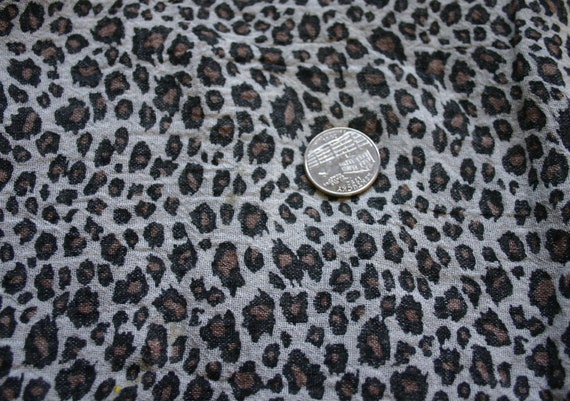 2 yards Leopard Light Cotton Gauze fabric punk seditionaries