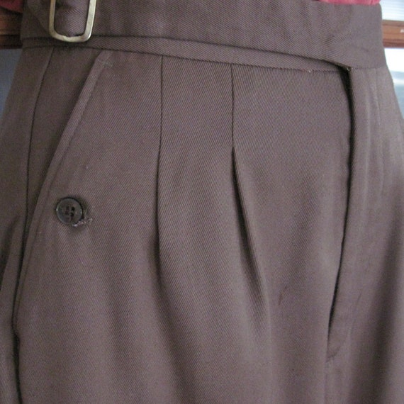 Annie Hall Style 1980's slacks, light brown pants, trousers. size 2 or 4 Petite