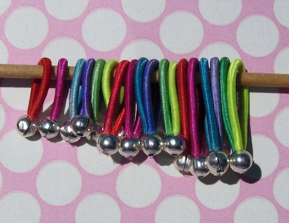 Soft flexible hand-friendly - Knitting stitch markers - FLOOPS -  Assorted (Sm, Med, Lrg)