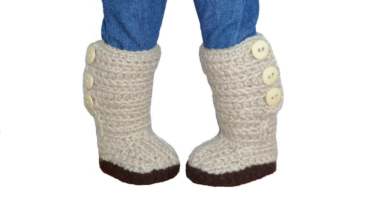 PDF CROCHET PATTERN Mini Sweater Boots for American Girl