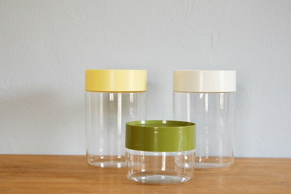 three pyrex jars RESERVED FOR justine37