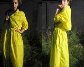 Woolrich Womans Yellow Fall Rain Coat Lakers Colors