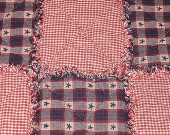 Americana Rag Quilt-style Placemats