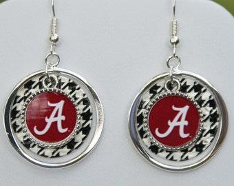 Alabama Houndstooth Earring