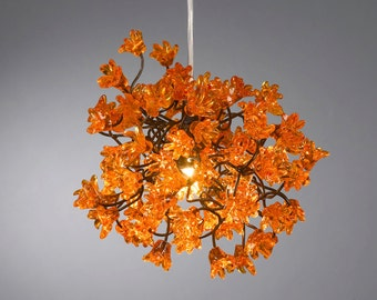 Chandeliers with jumping Orange flowers for bedroom, bathroom, toilette or kitchen island  .