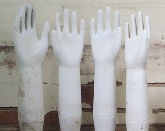 Vintage Industrial Porcelain Glove Moulds