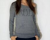 Resist (Open Neck Sweatshirt) Gray