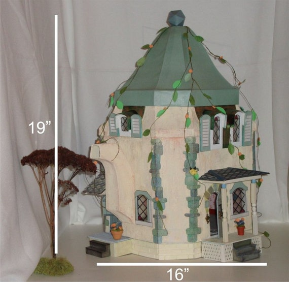 "DIY Printable Miniature ""The Miss Mouse Tea Pot House"" A Dollhouse  Downloadable .pdf Instruction file."
